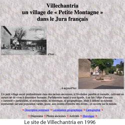 page d'accueil du site Villechantria en 1996