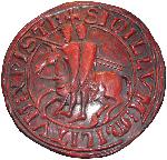 Sceau des templiers - 2 chevaliers sur 1 cheval